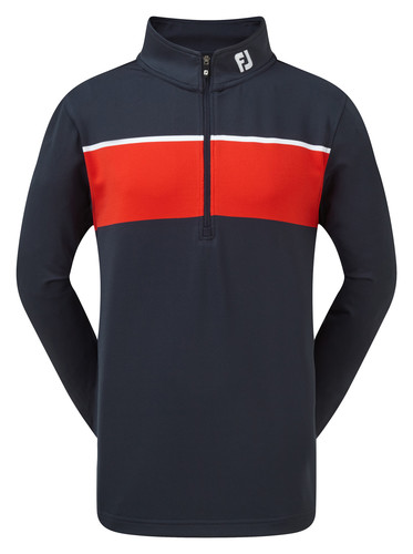 Footjoy Jersey Chest-Stripe Chill-Out Pullover
