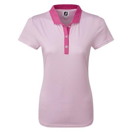 FootJoy Women's Cap Sleeve Micro Interlock Dot Print Shirt