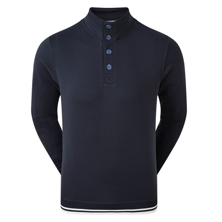 FootJoy Jearsy Fleece Backed Buttoned Collar Midlayer