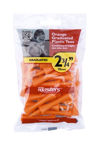 Plastic Graduated Tees 2 3/4 Bag 20 Orange