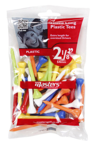 "Plastic Tees Bag 40 2 1/8"" Mixed"