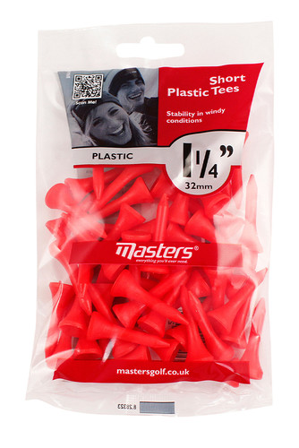 "Plastic Tees Bag 50 1 1/4"""
