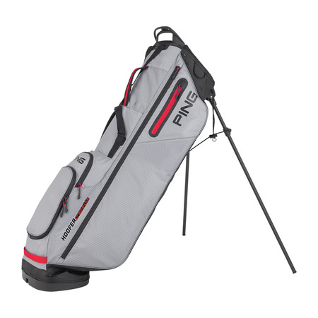 Ping Hoofer Craz-E Lite Stand Bag Grey Black Scarlet