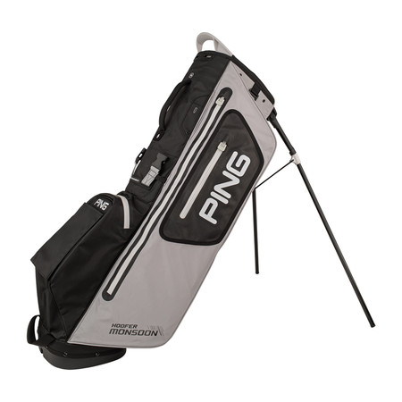 Ping Hoofer Monsoon Stand Bag Lite Grey BLack White