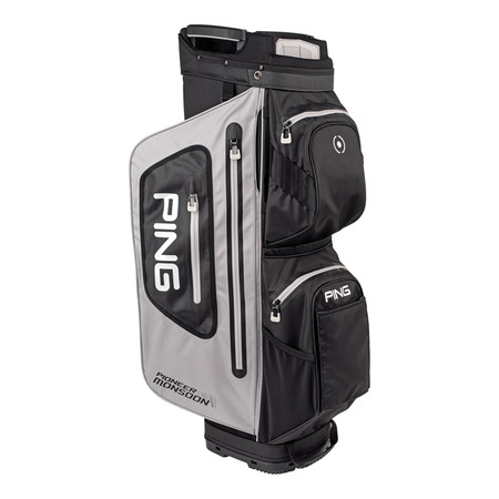 Ping Pioneer Monsoon Cart Bag Light Grey Black White
